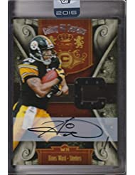 Hines Ward AUTO 2016 Honors 2011 Calling All Captains Game Used Jersey Swatch Card #24 Football Trading Card #1/1 Pittsburgh Steelers