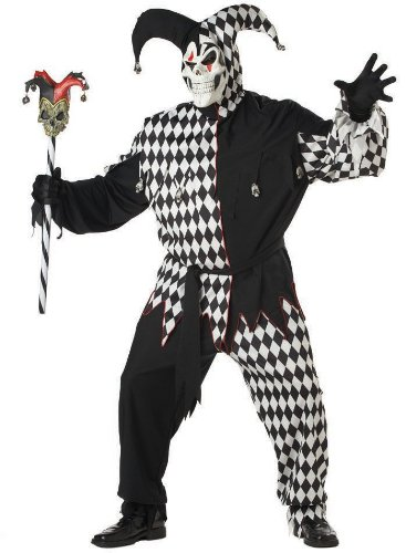 Evil Jester Costume - Plus Size - Chest Size 48-52 (Xxl Mens Costumes)