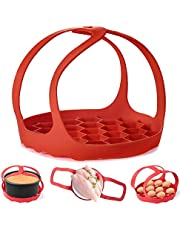 Pressure Cooker Sling,Silicone Bakeware Sling for Instant Pot 6 Qt/8 Qt Anti-scalding Bakeware Lifter Steamer Rack,PA-Free Silicone Egg Steamer Rack