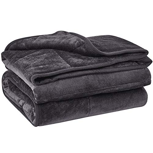 Cheap puredown Cozy and Luxury Weighted Blanket Heavy Blanket with Glass Beads Flannel Shell Fabric Durability and Comfort 12 lbs 48