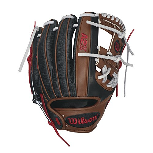 Infielders Glove Walnut Leather - Wilson 2016 A2K Dustin Pedroia Game Model Baseball Glove, Walnut/Black/Red, Right Hand Throw