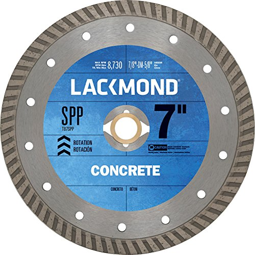 Lackmond TB7SPP 7-Inch Continuous Turbo Rim Diamond Blade for Cutting Stone