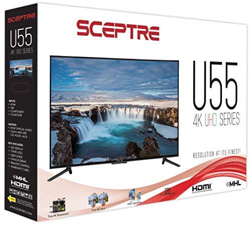 "TV Large Screen Sceptre 55"" Class 4K Ultra HD  LED TV U550CV"