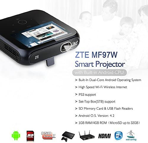 ZTE SPro MF97W WiFi Mini proyector portable 100 lúmenes Android ...
