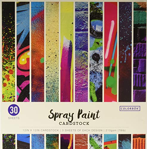 Colorbok Spray Paint Cardstock Paper Pad, 12
