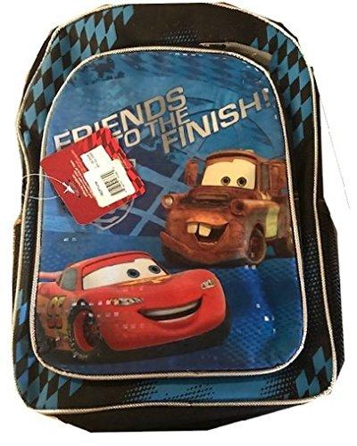 Disney McQueen Cars Backpack 16 Large School Bag Blue