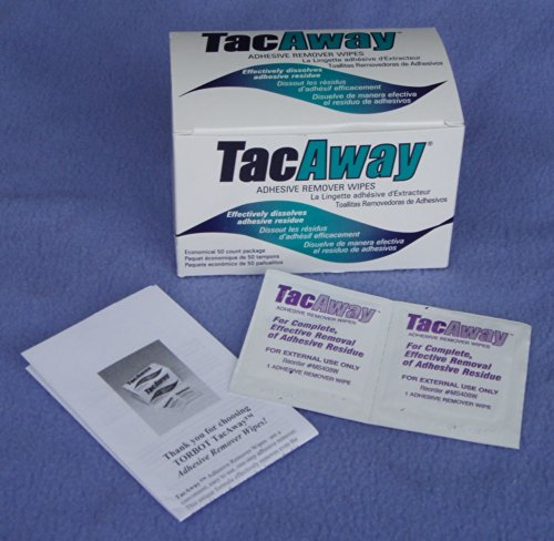 - TORBOT TacAway Adhesive Remover Wipes (Box of 50)