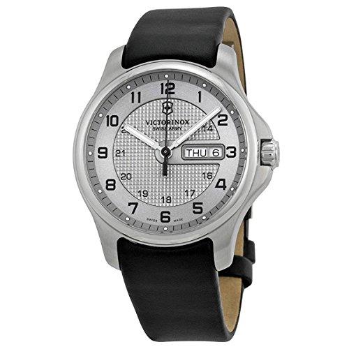 Victorinox Swiss Army Officers Silver Dial SS Quartz Men's Watch 241550