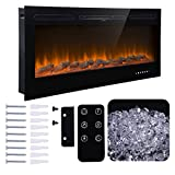 """Homedex 50"""" Recessed Mounted Electric Fireplace"""