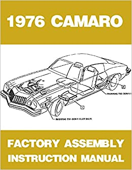 1974 CHEVROLET CAMARO Assembly Manual Book Rebuild