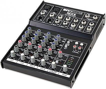 Invotone MX6 Mesa de mezclas de 6 canales: Amazon.es: Instrumentos ...