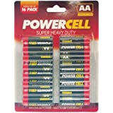 POWERCELL AA BATTERIES SUPER HEAVY DUTY 16 PACK