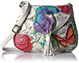 Anuschka Anna Handpainted Leather Flap Hobo,Floral Paradise, Fld-Floral Paradise