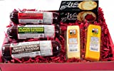 Wisconsin's Best Snacker Gift Basket - features Smoked Summer Sausages Sampler, 100% Wisconsin Cheeses and Crackers - A Perfect Snack or Gift.
