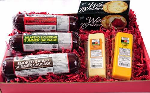 Wisconsins-Best-Snacker-Gift-Basket-features-Smoked-Summer-Sausages-Sampler-100-Wisconsin-Cheeses-and-Crackers-A-Perfect-Snack-or-Gift