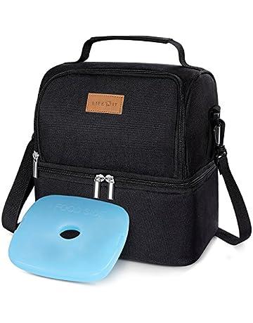 Lifewit Bolsa Térmica Porta Alimentos con Paquete de Hielo Doble  Compartimentos Aislamiento Bolsa de Almuerzo Para 2e8b6d0f24f7