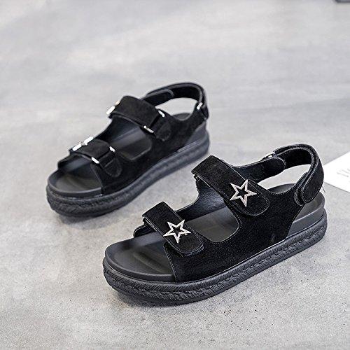 QQWWEERRTT Fashion Plateauschuhe Sandaleen Neue Weibliche Weibliche Neue Sommer Student Universal Vintage 55c70f