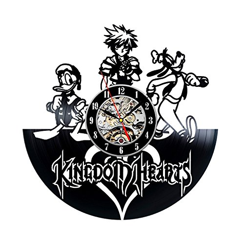 Kingdom Hearts Game Vinyl Record Wall Clock Decor for Home Best Gift for Any Events Gift for Him Gift for Her