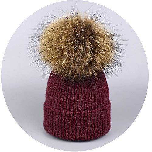 Ladies Woods Tiger Watch (WWomen Raccoon Wool Warm Knitted Vogue Winter Hats,Red Wine,Child)