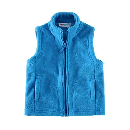 Mud Kingdom Soft Boys Vest Jackets Fleece Lightweight Size 6/7 Blue