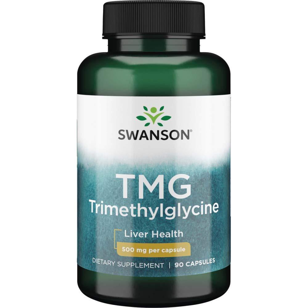 Swanson Tmg (Trimethylglycine) 500 Milligrams 90 Capsules
