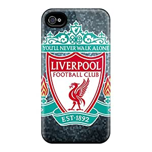 Durable Best Club Of England Liverpool Back Case/cover For Iphone 4/4s