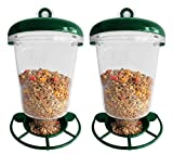 Set of 2 Premium Window Bird Feeders for Wild Birds - Outdoor Use Only - 7.5 x 5.9 x 4.1 - Holds One Pound of Birdseed!