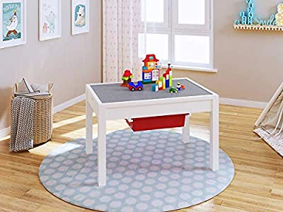 UTEX 2-in-1 Kids Activity Table with Storage Compartment and Two Storage Bins, Play Table for Kids,Boys,Girls