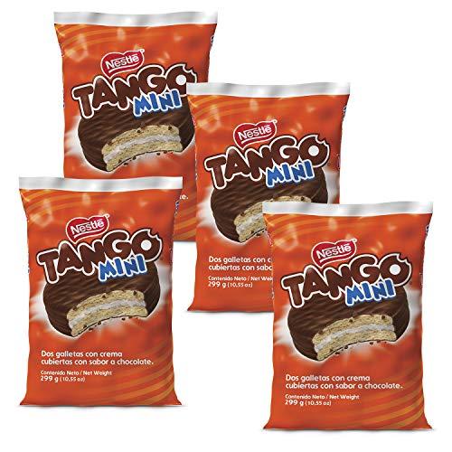 4 bags of Tango Chocolate Cookies Brand New 300 Gram Bag Chocolate Tango Mini Size 15 Units Per Bag (Nestle Chocolate Cookies)