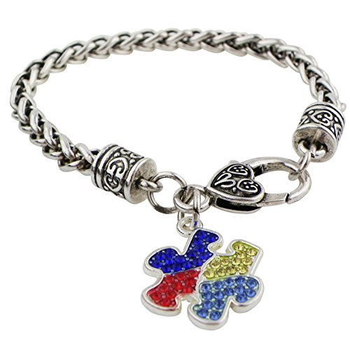 Rosemarie Collections Women's Autism Awareness Pave Crystal Puzzle Charm - Macys Spectrum