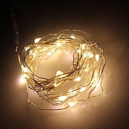 M.best 2M / 6.5 pies de alambre 20 LED LED cadena Luz de Navidad de la lámpara con pilas de la celebración de días...
