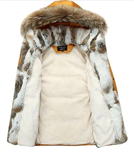 Down Rex Hiver Longue Collier Doublure 90 Fourrure Duvet Homme Coat Parka Capuche Veste Rempli Chaud Manteaux Mens Yyzyy Winter Vert Fur À Eqw5Hc65