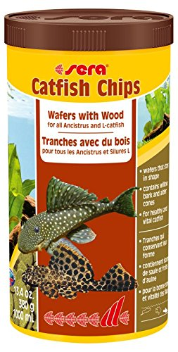 sera 510 Catfish Chips 1.3 oz 100 ml Pet Food, One size (Pet Catfish)