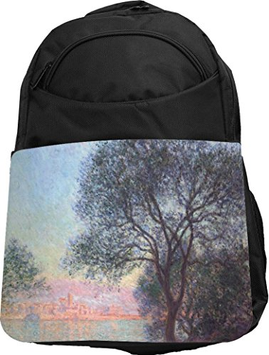 Rikki Knight UKBK Claude Monet Art Antibes seen from La Salis Tech BackPack - Padded for Laptops & Tablets Ideal for School or College Bag BackPack