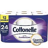 Cottonelle Ultra ComfortCare Toilet Paper, Soft Bath Tissue, Septic-Safe, 12 Double Rolls
