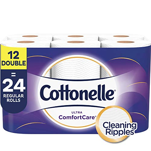 Cottonelle Ultra ComfortCare Soft Toilet Paper, 12 Double Rolls (Equals 24 Single Rolls), Bath Tissue (Cottonelle Toilet Paper Bulk)