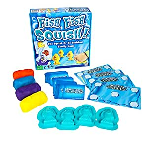 Fish, Fish, Squish! – The Squish or Be Squished Family Action and Memory Game for Parents and Kids – 2 to 4 Players – Ages 5 and Up