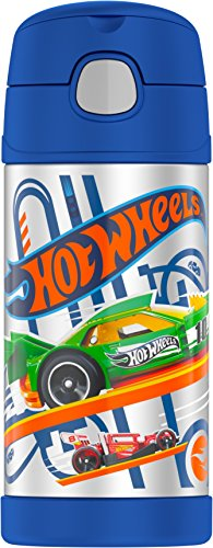 Thermos Funtainer 12 Ounce Bottle, Hot Wheels