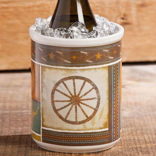 Kitchenware, Cowboy Up!,Utensil Crock,Ceramic,6.25x6.25x8.5 Inches