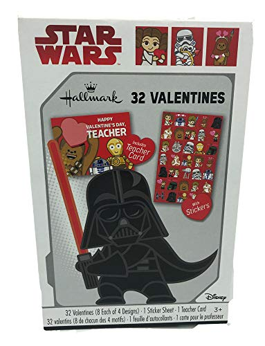 Star Wars Valentine's Day Cards - 32 Pack
