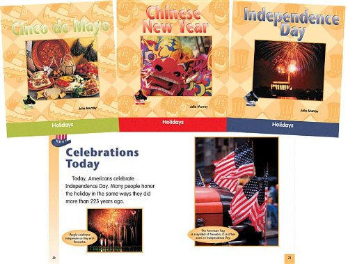 Holidays Set: Chinese New Year / Cinco De Mayo / Columbus Day / Independence Day / Martin Luther King Jr. Day / President's Day