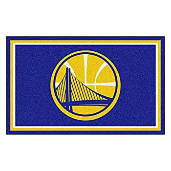 Image of FANMATS 20427 Team Color 44'x71' NBA - Golden State Warriors Rug