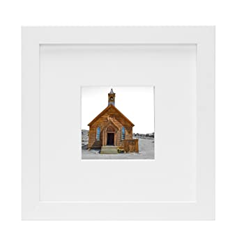 Amazon.com - Frametory, 8x8 White Picture Frame - Made to Display ...