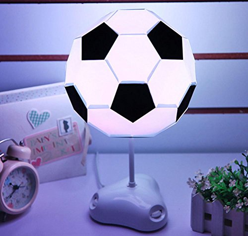 DMMSS Full Set of Manual Assembly USB Night Light Colorful Soccer Led Bedside Lamp Football Table Lamp by DMMSS Lamp