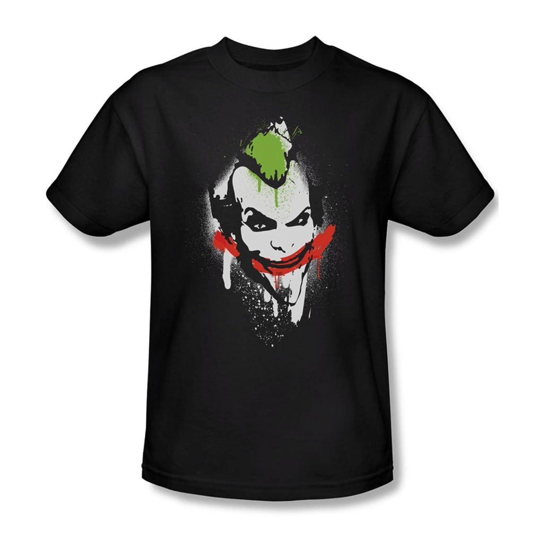 Batman: Arkham City - Spraypaint Smile Adult T-Shirt In Black