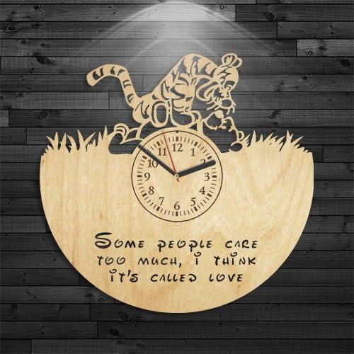 Wall Clock Modern Winnie Pooh Wood Clock Winnie Pooh Clock Tiger Wooden Clock Wall Clock Vintage Disney Birthday Gift Cartoon Wooden Clock Gift For Boy Winnie Pooh Gift For Kids