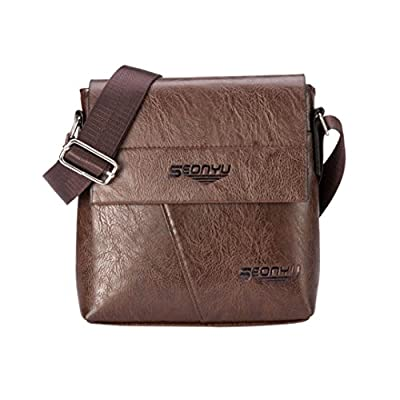 Tote Bag,Clearance! AgrinTol Men Fashion Business Handbag Shoulder Bag Tote Flap Chest Bag