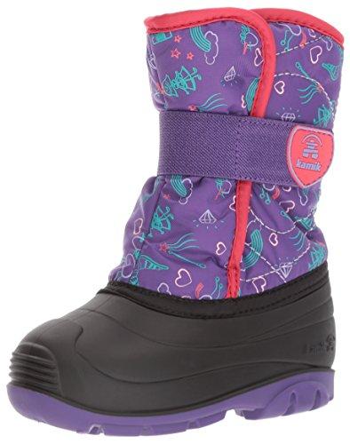 Kamik Children's Snow Boots (Kamik Girls' Snowbug4 Snow Boot, Purple/Red, 6 Medium US Toddler)