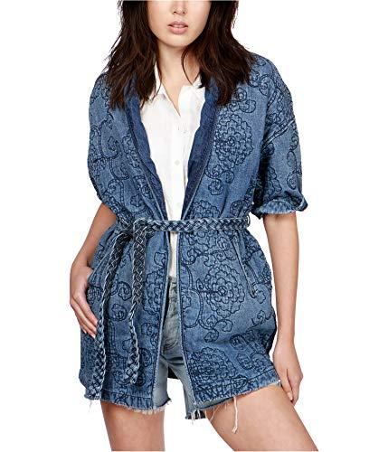 - Lucky Brand Women's Quilted Denim Kimono Jacket (Blue, Medium)
