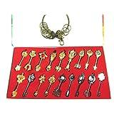 OliaDesign Econoled Rulercosplay Fairy Tail Lucy Golden Zodiac Keys Chain, Set of 19